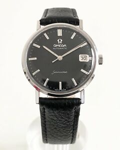 OMEGA SEAMASTER CALENDAR BLACK DIAL AUTOMATIC CAL. 560 DATING TO 1959