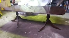 Reproduction Twin Claw Foot Stand Extendable Dining Table or Twin Hall Tables