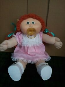 vintage Original Cabbage patch kid doll Pacifier girl Red plaits blue eyes