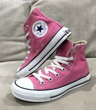 Like New Converse Pink Hi Tops Shoes Sneakers Size 5.5 Womens Chuck Taylor's
