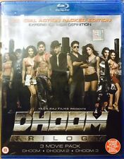 DHOOM TRILOGY : DHOOM 1 + DHOOM 2 + DHOOM 3 - SPECAIL 4 BLURAYS BOXSET REGION FR
