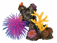 Coral Reef with Silicone Anemone Decoration Ornament for Aquarium Fish Tank