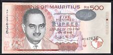 Maurice: BANK of MAURITIUS, 500 roupies, 2001, AF 167636, (Pick 53b), au-UNC.