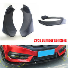 2Pcs Car Modified Front Bumper Splitter Protect Diffuser Black ABS Anti-scratch