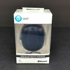 ONN Mini Bluetooth Speaker Slash Proof Portable 6 Hour Play Time Rechargeable