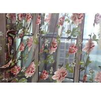 Gauze Window Screens Shading Curtains For The Living Room Flowers Curtains YS