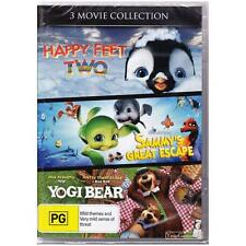 DVD 3 MOVIE COLLECTION HAPPY FEET 2/SAMMYS GREAT ESCAPE/YOGI BEAR REGION 4 [BNS]