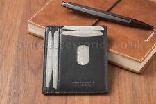 Jockey Club Slim Black Nappa Leather Card Wallet for Men