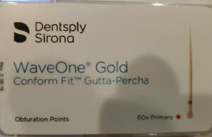 Primary Waveone Gold Wave One Gutta Percha Points Dental Endodontic Root Canal