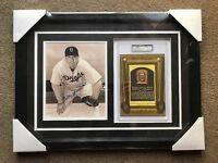 Bill Herman Autograph Signed 8x10 Photo HOF Card Framed Collage PSA/DNA Dodgers