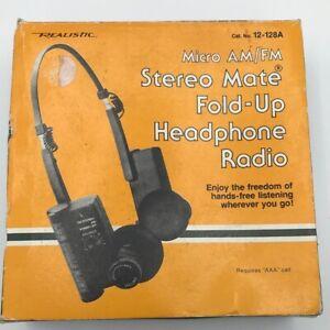 Vintage Realistic  Am/FM Radio Headphones NIB