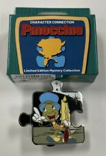 Disney Character Connection Pinocchio Jiminy Cricket Le 900 Puzzle Mystery Pin