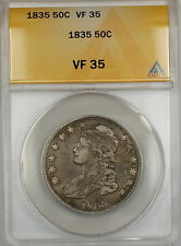 1835 Capped Bust Silver Half Dollar 50c Coin ANACS VF-35 PRX