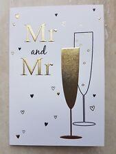 Mr & Mr Wedding Card With Classic Design ~ Gay, Lesbian, Same Sex Wedding'