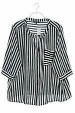 ms mode -Bluse mit 3/4-Ärmel mit Krempel-Ärmeln D 48 Oberteil Top
