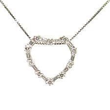 DIAMOND HEART PENDANT INCLUDED 20 INCH WHITE GOLD BOX