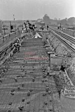 PHOTO  REBUILDING  CHOLSEY BRIDGE 1978 VIEW 1