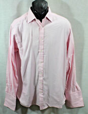 THOMAS PINK FRENCH CUFF DRESS SHIRT MEN LONG SLEEVE BUTTON-FRONT Pink 16/36.5