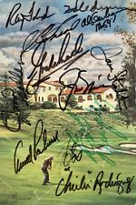 Golf Hall of Famers & Stars Signed 5.25x8 Cut Program Cover JSA Auth. 13 Sigs