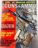 Vintage GUNS & AMMO Magazine October 1968 Iron Sights for .22?