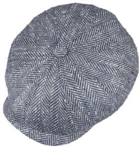 STETSON GERMANY Hatteras 57cm Flat Cap 7 1/8 8/4 Newsboy Gatsby Silk/Virgin Wool