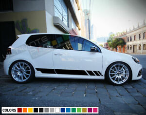 Sticker Decal Side Door Stripes for Volkswagen Golf MK6 GTI R Sport Skirt 2009 -