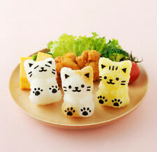 Cat Onigiri Mold Rice Ball Kit / Nori Seaweed Punch Cutter / Bento Accessories