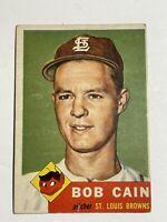 1953 Topps #266 Bob Cain - St. Louis Browns