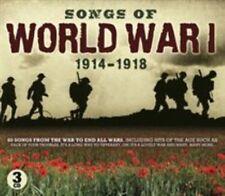 2014 Songs of World War 1 UK Released IMPORT 1914-1918 Sterling 3 Disc CD Set
