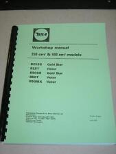 Shop Manual Fits 1971 1972 1973 B25 B25ss Gold Star B25T Victor 250cc Motorcycle