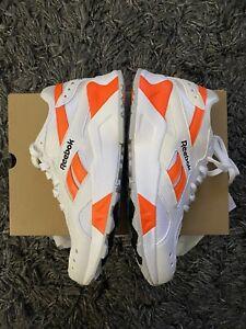 Size 8 - Reebok Classic Aztrek - White/Black/Solar Orange CN7472