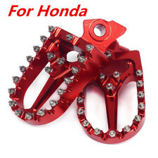 Red Aluminum Foot Peg Footrest Pedal For Honda CRF250R 450R 450X 450RX Kawasaki