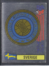 Panini - USA 94 World Cup - # 153 Sverige Foil Badge (Black Back)