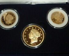 National Collector's Mint 3 Coin 24k Gold Plated Coins, Proofn with Case