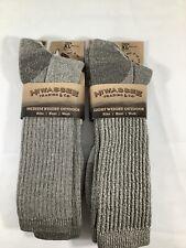 2 New Pair Hiwassee Trading Co Merino Wool Outdoor XL Crew Socks FREE SHIP X2