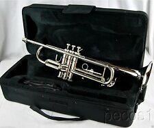 TRUMPETS-BRAND NEW SCHOOL Bb PRO SILVER MARCHING CONCERT BAND TRUMPET
