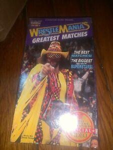 Mint Sealed Video  Wrestling WWE WWF Wrestlemania Greatest Matches( Macho Man)