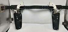 1960's Lone Ranger Mattel Fanner 50 Cap Guns & Lone Ranger Durahyde Holster