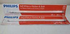 """Philips 16"""" T5 Fluorescent Light 2pk Bulb Kitchen & Bath Soft White NEW 720 lmn"""