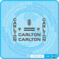 Carlton Bicycle Decals - Transfers - Stickers - Set 6