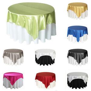 57'' Satin Fabric Tablecloth Wedding Party Table Cloth Cover Home Decor 145cm