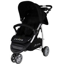 TOP CROWN ST712 Kinderwagen 3-Rad Buggy Sport Jogger schwarz NEUES Modell