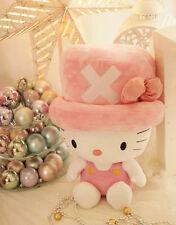 "Hello Kitty Tony Tony Chopper Limited Edition Big Soft Plush Doll Toy 20"" Pink"