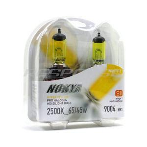 Nokya 9004 HB1 Hyper Yellow Headlight Foglight Bulbs Pro Halogen 2500K 65/45w