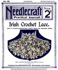 Needlecraft Practical Journal #80 c.1909 Vintage Patterns Irish Crochet Lace