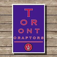 Toronto Raptors Poster Sports NBA Basketball Eyechart Art Print 12x16""
