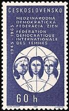 Czechoslovakia 1965 Sc1322Mi15520.60 MiEu 1v mnh Intl. Women's Federation
