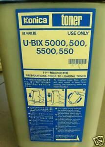 Konica 5003ZMR 5503ZMR 55920 UBIX U-BIX 5000 500Z 5500 550 Toner Bottle 982202