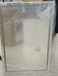 TaiMei 36-in Lighted LED Fog Free Crystal Silver Rectangular Frameless Bathroom