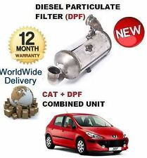 FOR PEUGEOT 307 1.6HDI 2004-> DIESEL PARTICULATE DPF & CAT CATALYTIC FILTER KIT